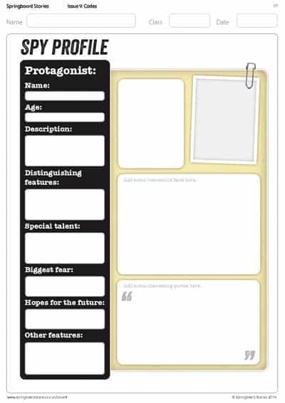 KS2 character profile | Springboard Stories