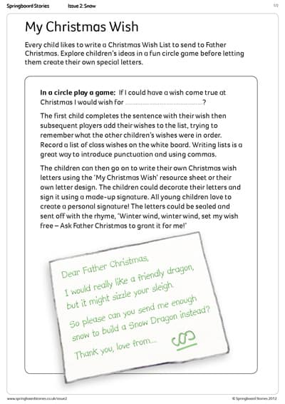 Christmas letter template   Springboard Stories