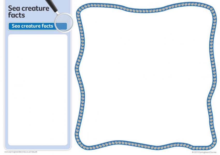 The sea fact card template