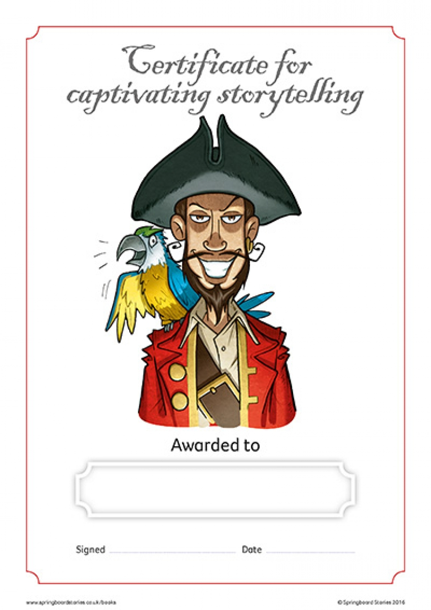 Books storytelling certificate – KS2