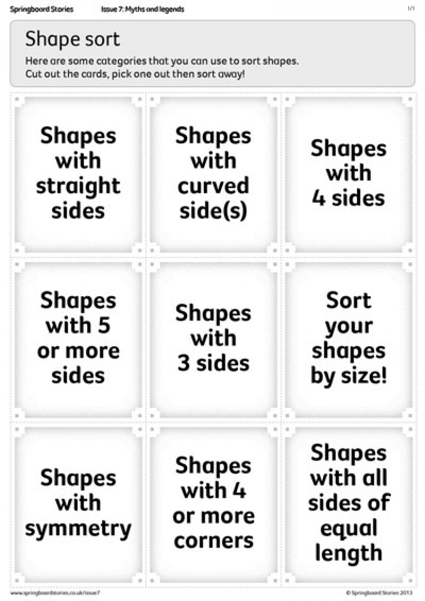 Shape sort