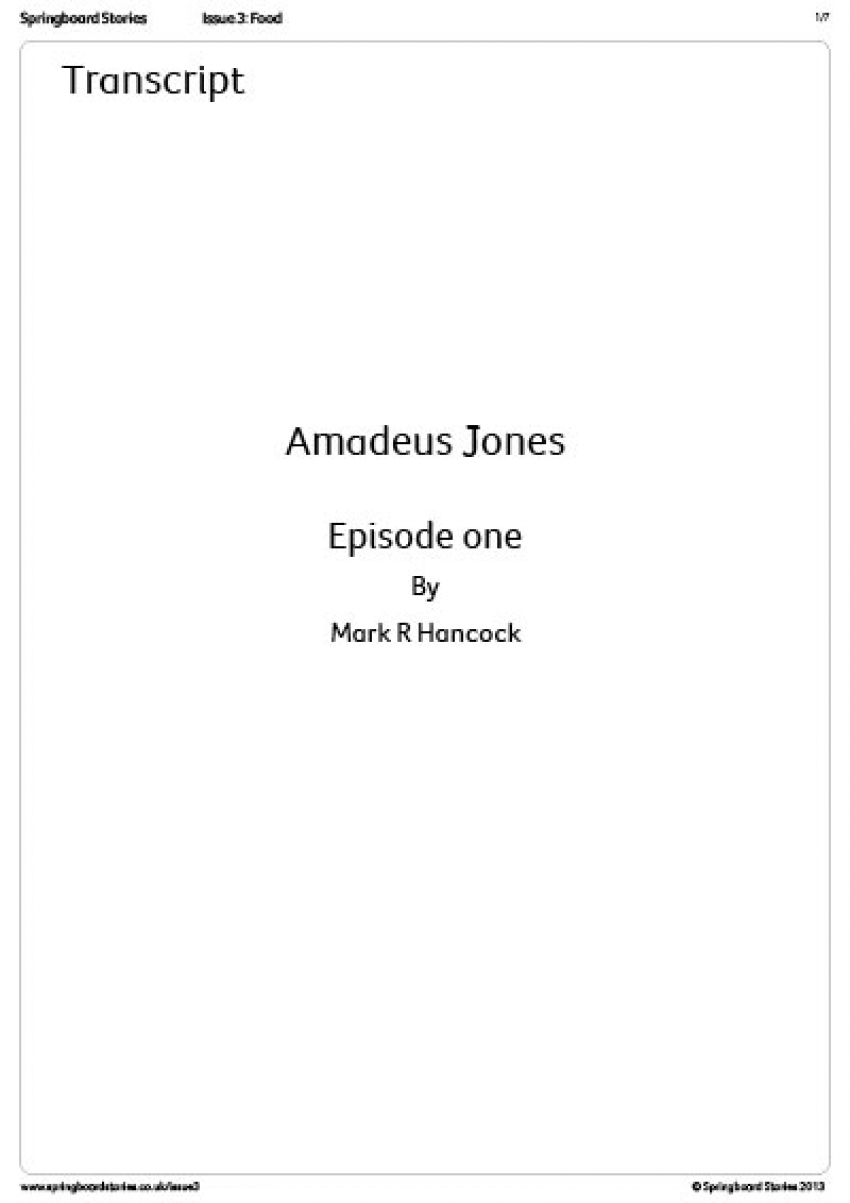 Transcript - Amadeus Jones radio play 1