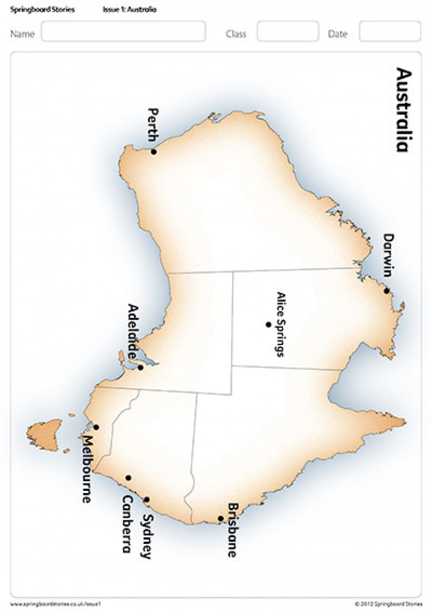 Map Of Australia Ks1.Australia Primary Topic Springboard Stories
