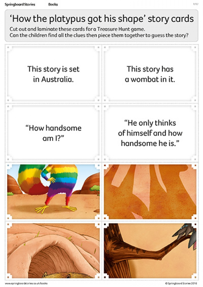 Story treasure hunt cards