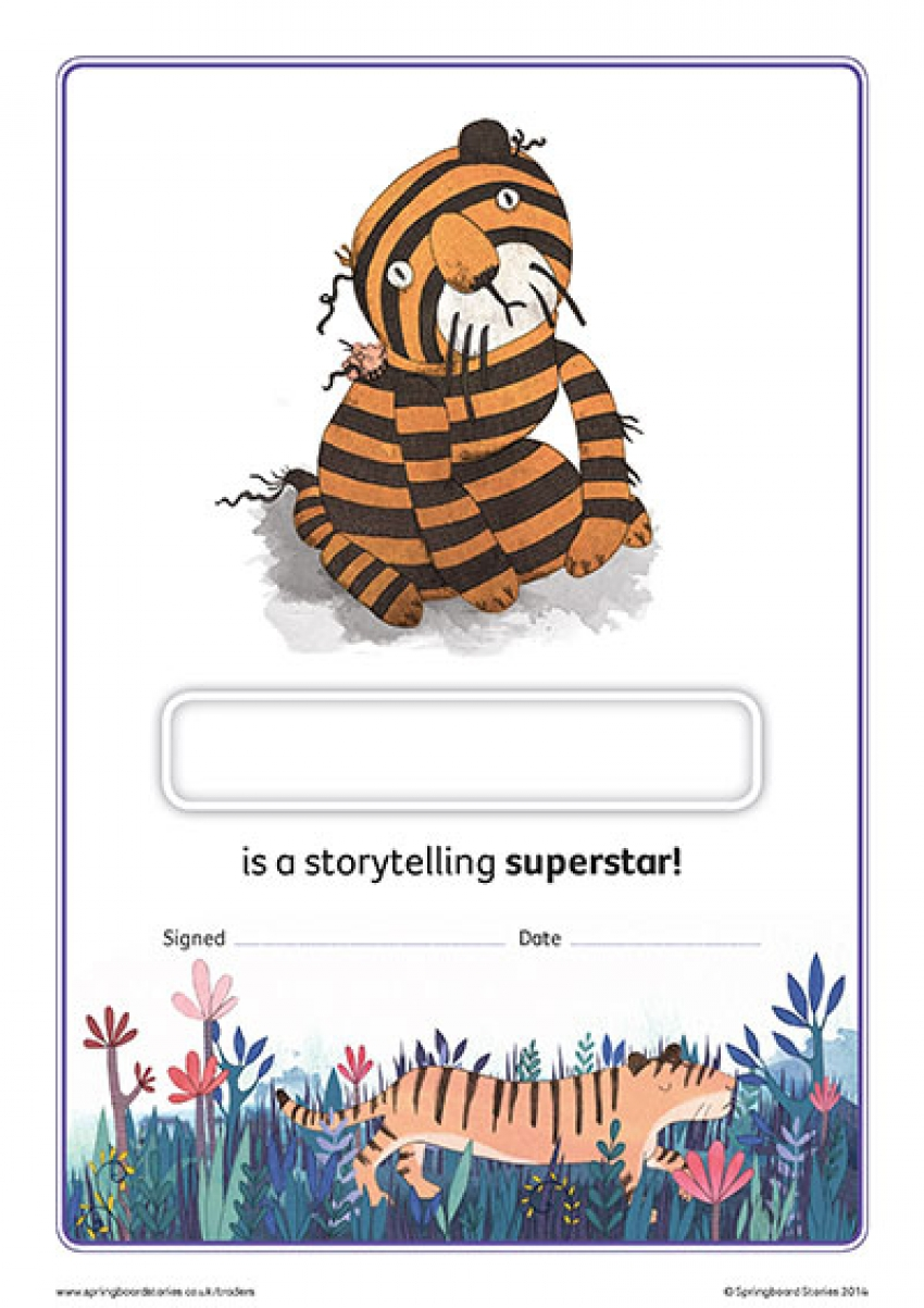 Key stage 1 storytelling certificate – Ranjet's rainbow tigers