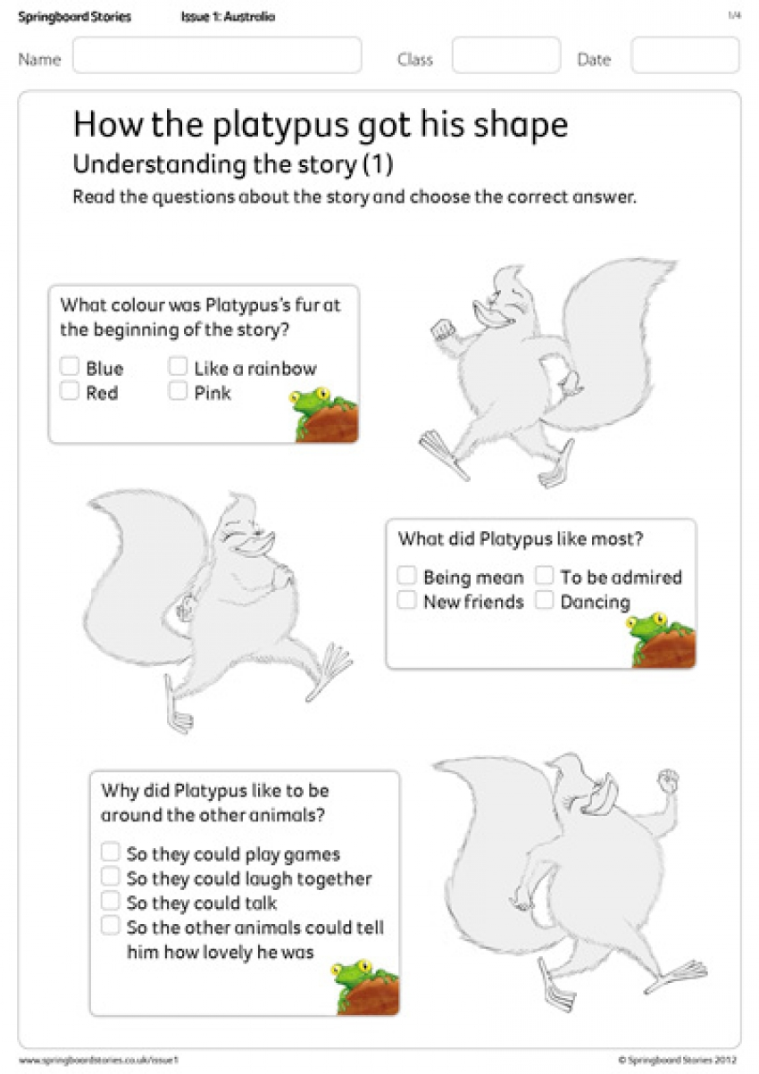 Understanding the story comprehension primary resource – Australia topic