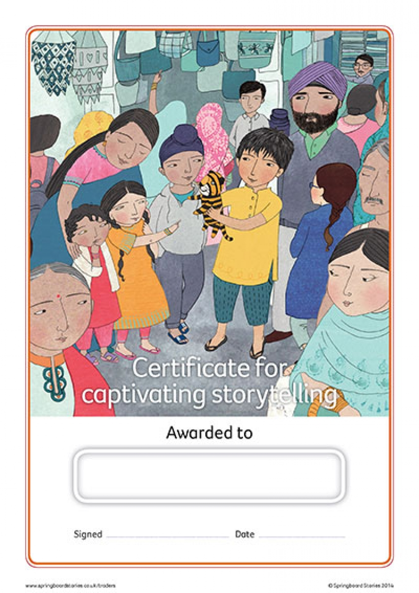 Key Stage 2 storytelling certificate – Ranjet's rainbow tigers