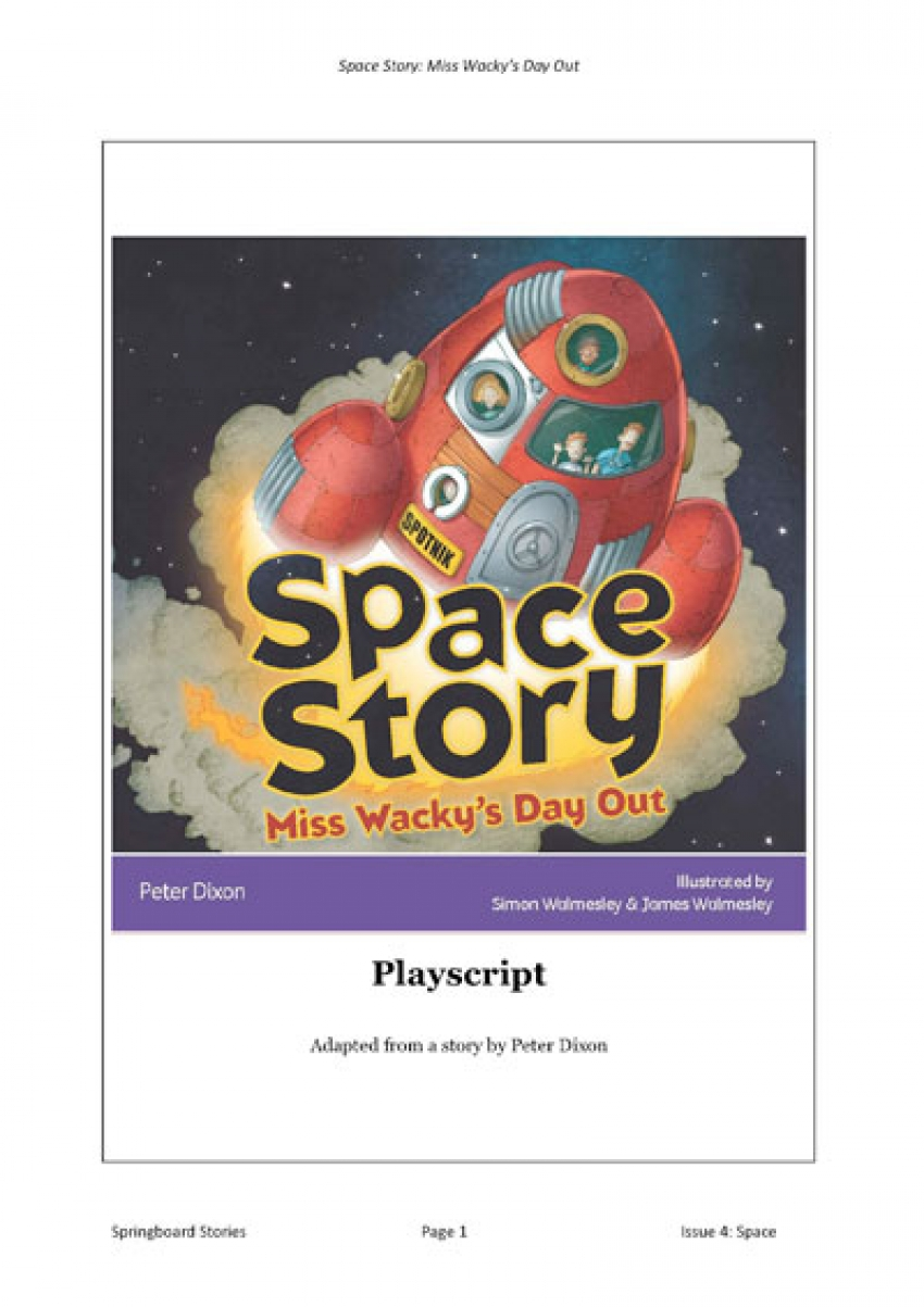 Primary Space topic | Springboard Stories