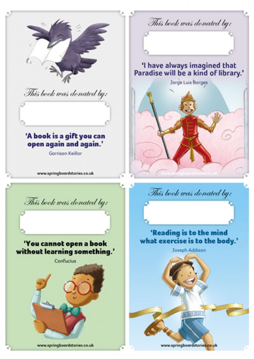 Springboard stories spelling rules bookmarks for Bookplate templates for word
