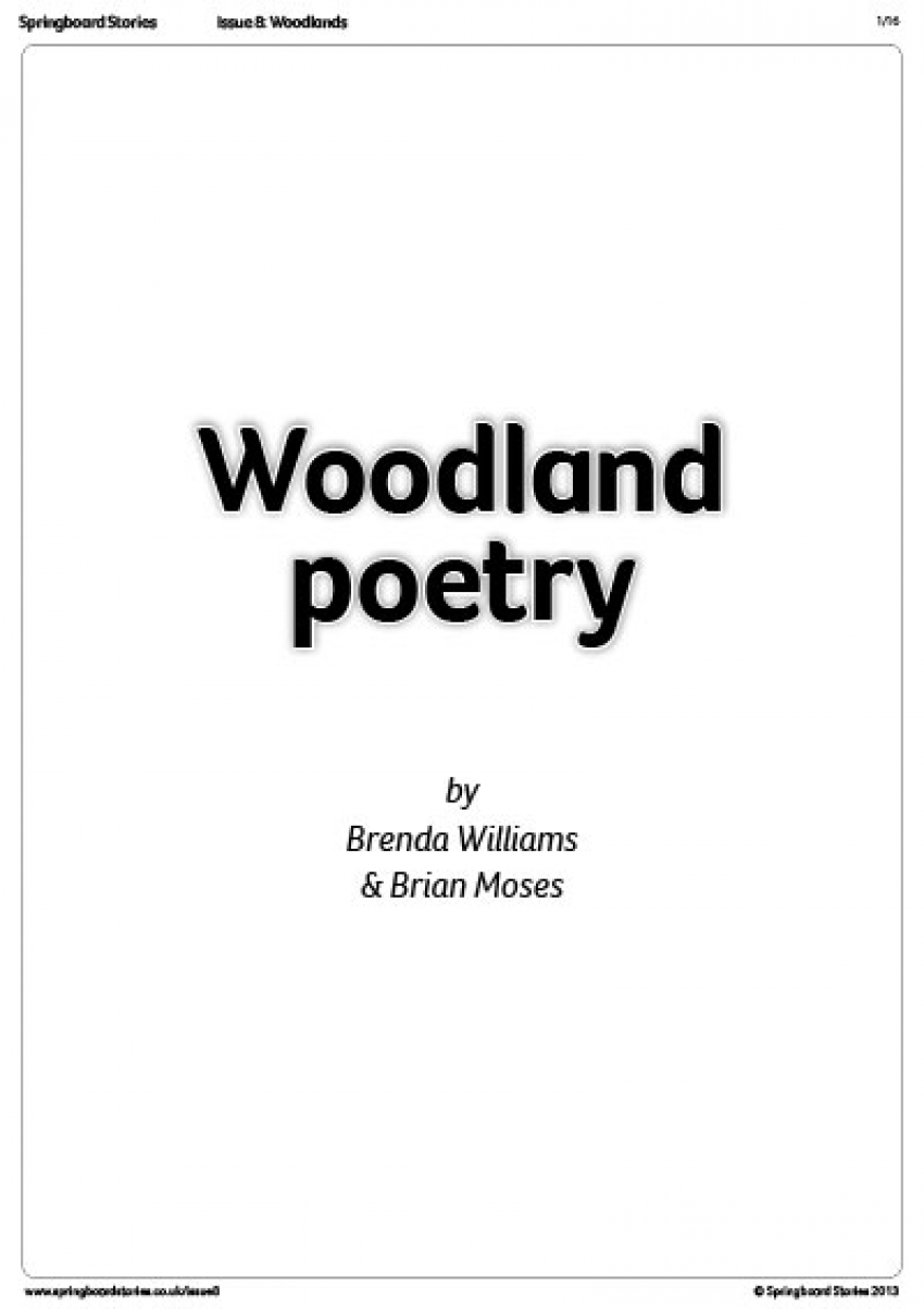 Woodland poetry by Brenda Williams and Brian Moses – primary literacy resource