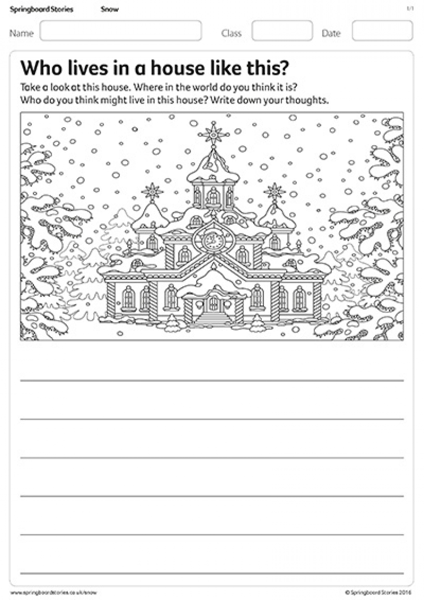 Who lives in a house like this? activity sheet