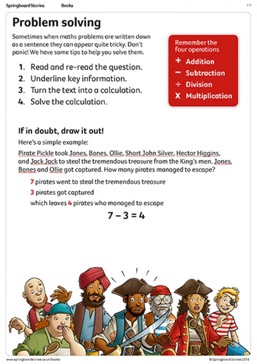 Pirate problems primary maths resource