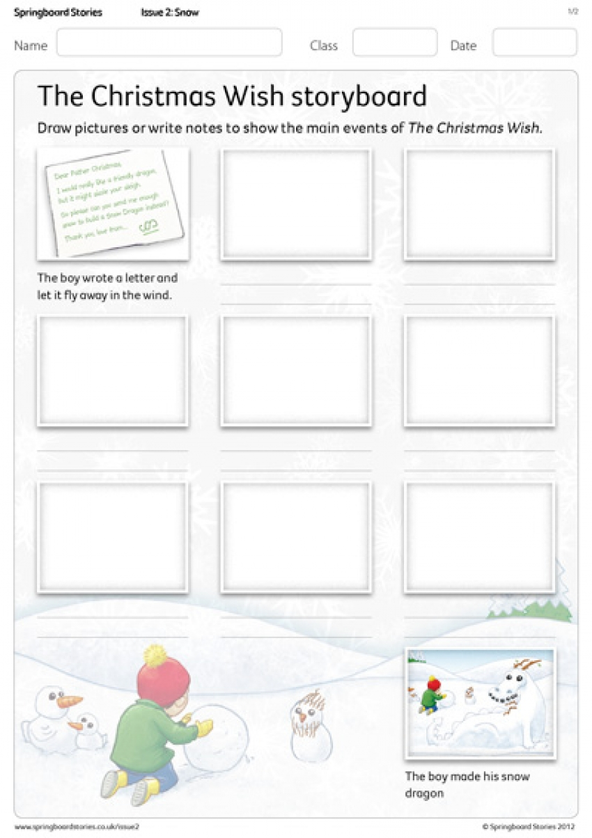 The Christmas Wish storyboard