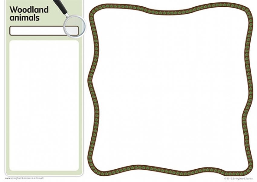 Woodlands fact card template