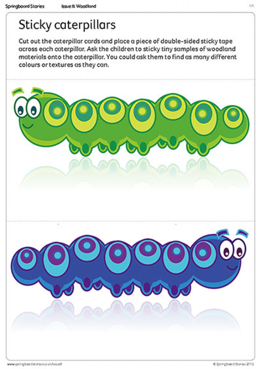 Sticky caterpillar outdoor play primary resource