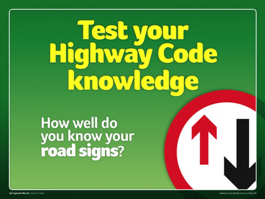 Highway code slideshow