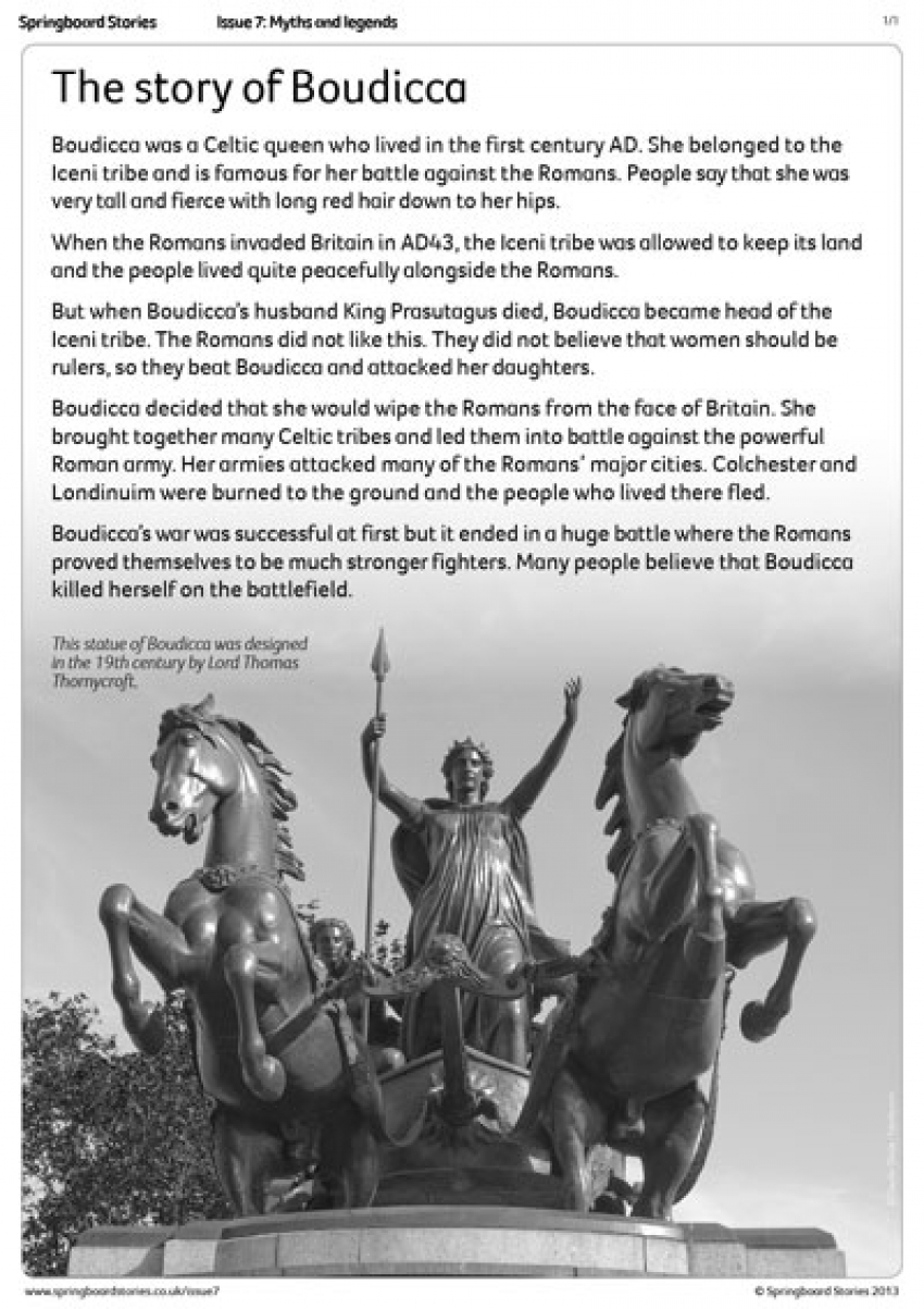 The story of Boudicca