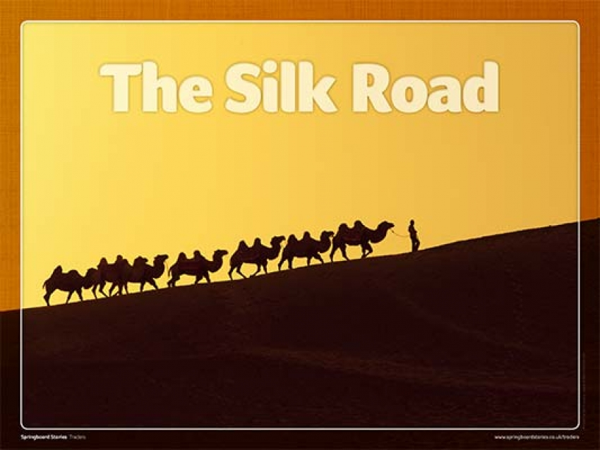 Journey along The Silk Road primary whiteboard resource